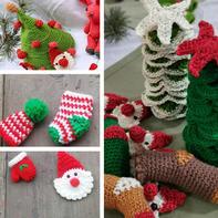 迷你钩针圣诞编织小物6款
