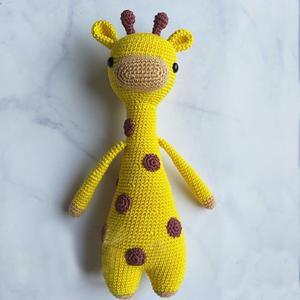 爱心编织斑点长颈鹿钩针玩偶图解