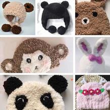 小熊款1配件(9-2)绒绒线编织秋冬宝宝帽系列视频