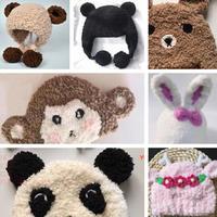 小熊款3表情(9-4)绒绒线编织秋冬宝宝帽系列视频