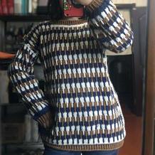 一款超简单女士钩针休闲套头毛衣