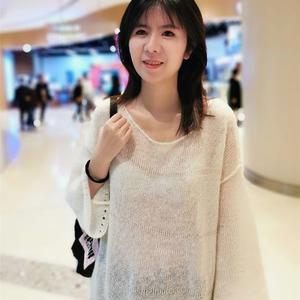 LK150慵懒风女士圆领套头衫(附机上串珠教程)