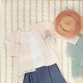 附三个尺寸的女士钩针春夏外搭小开衫