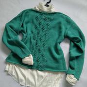 芙蓉 喵夫人小满女士棒针套头毛衣