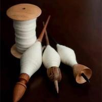 Drop spindle捻线 手工线锤纺线介绍