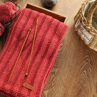 简单好织横竖条纹棒针围巾织法视频教程