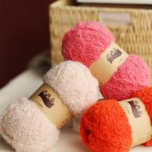 九色鹿玛奇朵 珊瑚绒粗围巾线男女织帽子线宝宝外套线