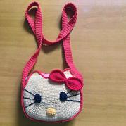送小盆友的礼物 钩针Hello Kitty猫咪包包