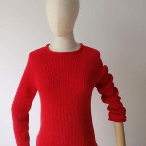 外网款改版懒人插肩袖女士棒针套头毛衣