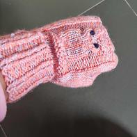 儿童棒针猫头鹰露指手套详细织法