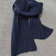 麦穗 男女都适合的中性款钩针围巾