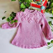 花蕾 成人款改版兒童棒針育克圓肩套頭毛衣