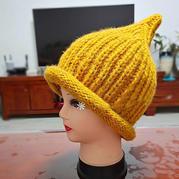 毛线编织棒针元宝针奶嘴帽