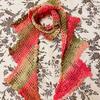 春之葳蕤 彩虹段染线女士钩针花朵围巾