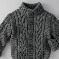 3款帅气时尚儿童毛衣 3-6岁男童毛衣款式图