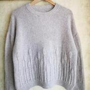 麥穗 云羽女士棒針落肩袖套頭毛衣
