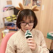 迷你钩针圣诞树和钩针小驯鹿发箍
