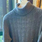 暖冬 男士棒针高领羊绒毛衣