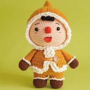 萌可爱钩针爱斯基摩娃娃编织图解