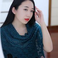 母亲节礼物 钩针丝毛蕾丝三角披肩maia shawl