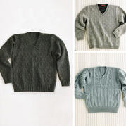 3款经典男士V领套头毛衣兴旺xw115图解