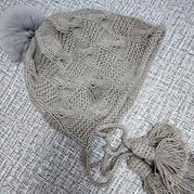 盛莲麦芽棒针编织亲子帽子织法教程