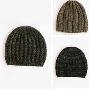男女老幼都适合的经典花样棒针毛线帽3款