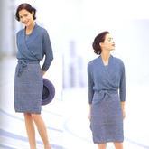 大平针的优雅 女士棒针套裙(背心裙与裹身系带开衫)