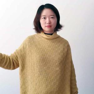 立冬 经典棋盘格花样女士棒针自由领羊绒衫