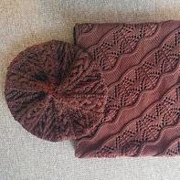 送老妈的简单大方冰霜花围巾和阿兰风格贝雷帽