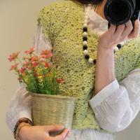 春色 百搭钩针女式套头罩衫