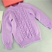 冬月 从上往下织圆领插肩毛衣编织视频