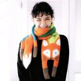 生动有趣棒针狐狸围巾编织图解