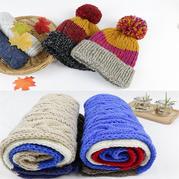 拼色毛帽球(2-2)帽子围巾系列编织视频