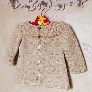 米尔 婴幼儿棒针棉质小开衫