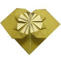 手工心形折纸方法图解