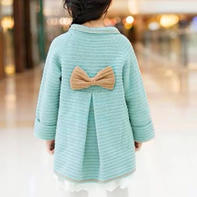 法式风情蝴蝶结大衣(2-2)儿童毛衣钩针编织视频教程