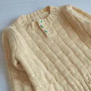 节节高 幼儿棒针前开领套头毛衣