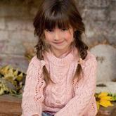 一组欧美风格的儿童长袖毛线衣款式欣赏