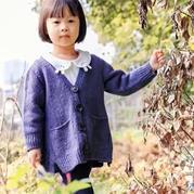 彩点羊毛开衫(3-3)棒针儿童开衫织法视频教程