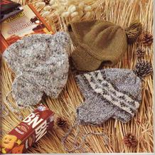 经典实用儿童棒针护耳帽3款 也可织亲子款