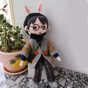 小兔子哥哥 肖战钩针玩偶编织图解