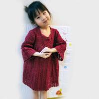 新年战袍 成人款改版儿童钩针裙式上衣