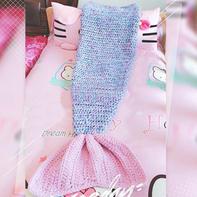 美人鱼盖毯  毛线编织创意钩毯织法教程