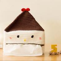 卡通娃娃雪人造型纸巾袋 创意家居编织视频教程