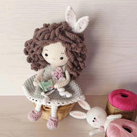 娜蒂娅  发量惊人的美美哒钩针复活节兔子小姐
