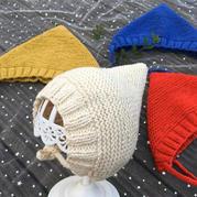 三角帽精灵护耳帽 棒针宝宝毛线帽织法视频教程