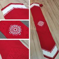 吉祥如意围巾 原创设计钩织结合双色长围巾