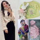 202103期周热门编织作品:创意编织女士儿童手编服饰12款