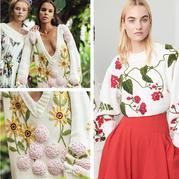仙女風鉤花裝飾大毛衣   早于春姑娘的針線春意